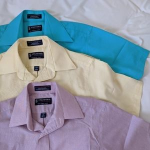 LOT of 3 Collared Button Up Short Sleeve Polos